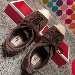 Authentic UGG Australia shoes, size 8, brown suede